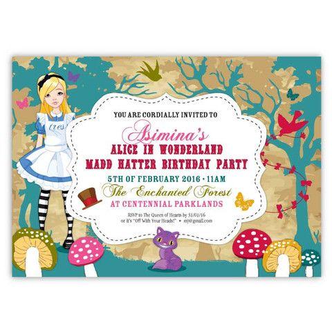 Alice in Wonderland Invitations – Ian & Lola Design Boutique