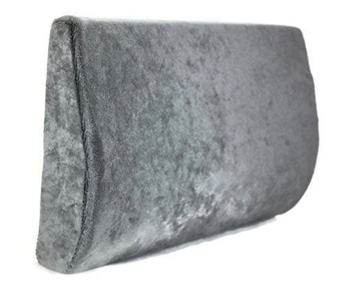 Lumbar Support Back Cushion, Travel Size (Grey) -- Click image to review more details.