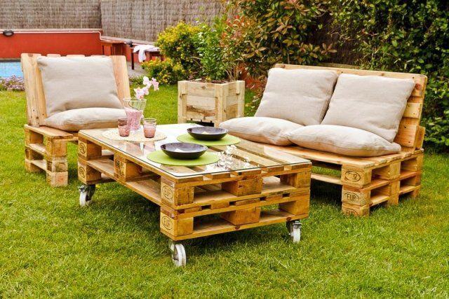garten lounge möbel selber bauen anregungen europaletten | Garten ...