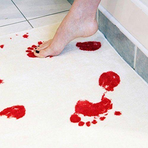 Idée #CadeauDeMerde #  Tapis de salle de bain Blanc 40 - antiderapant salle de bain