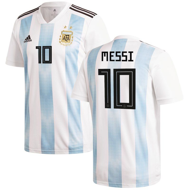 b1d77eddda3 Lionel Messi Argentina National Team adidas Youth 2018 Home Replica Player  Jersey – White