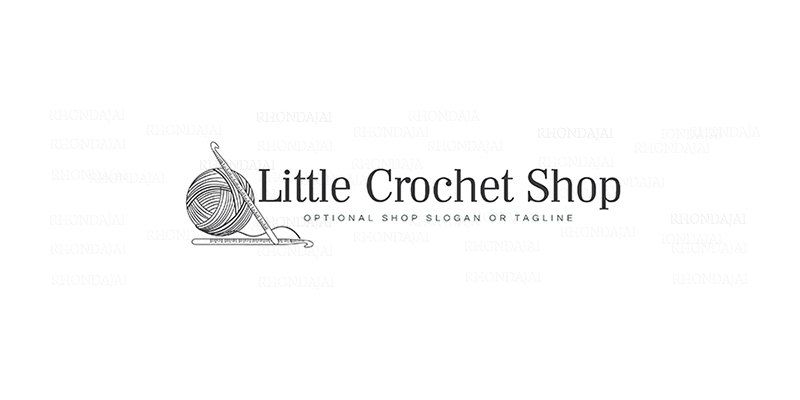 Shop Banner - Crochet Logo -  Etsy Cover Photo - Etsy Shop Covers - Shop Logo  - Crochet Etsy Shop Cover -  Etsy Covers  - 2-6 by RhondaJai on Etsy