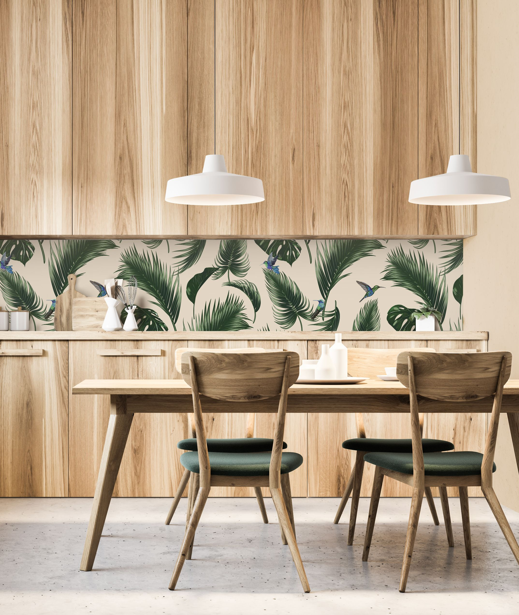 Themed Dining Room. Vertical Wood