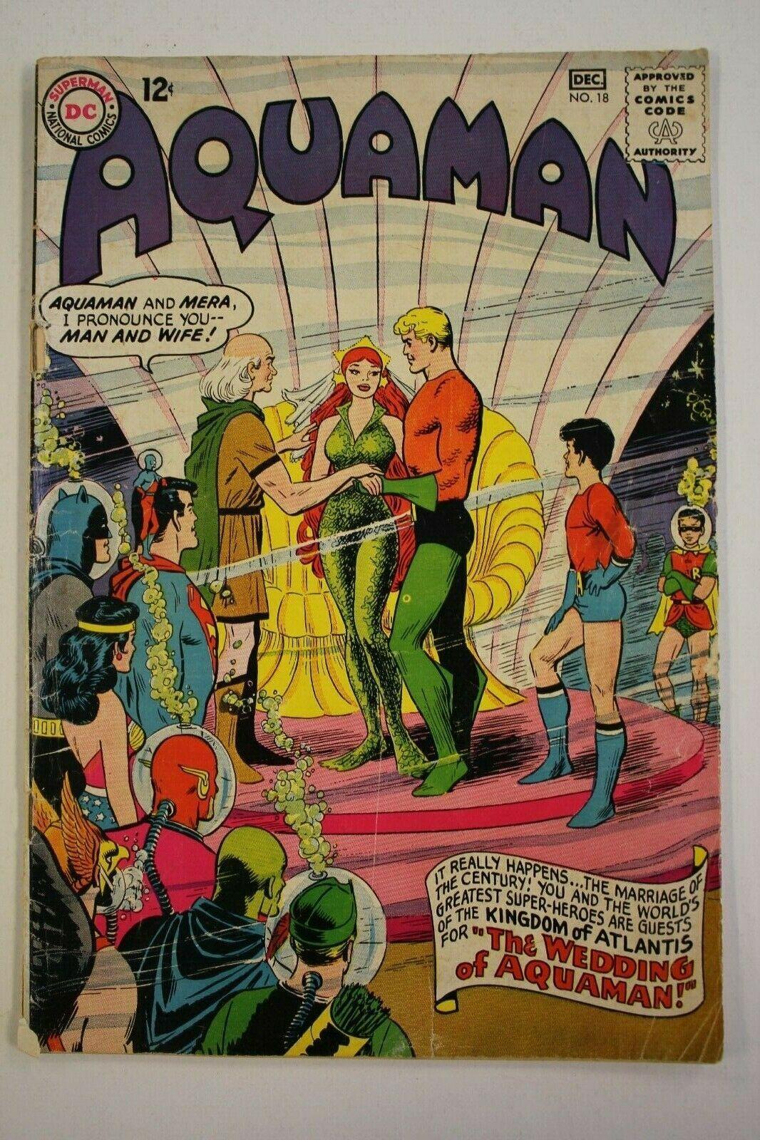 Aquaman FR/GD Mera Wedding Issue DC KEY Nick Cardy 1964 Silver Age 12 Cents  - Ideas of Aquaman