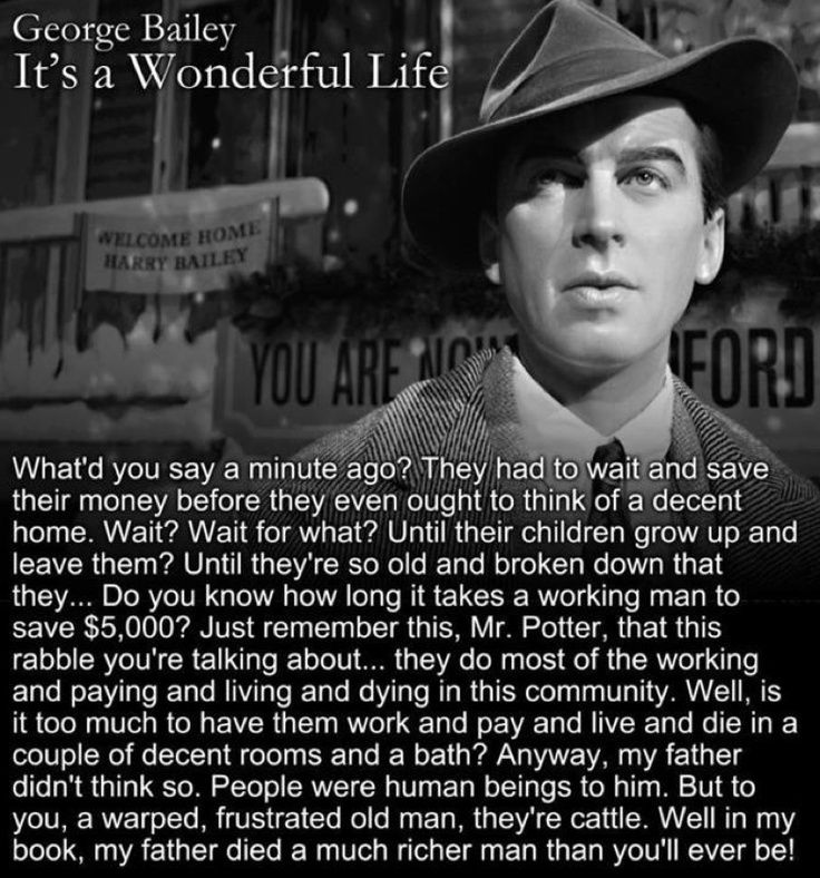 Movie Life Quotes It's A Wonderful Life Quotes  It's A Wonderful Lifebam The