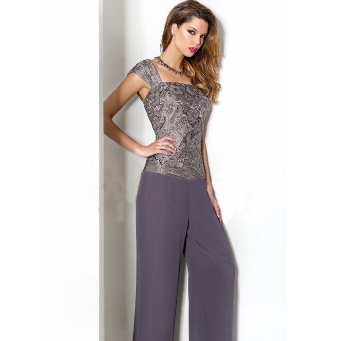 Más el tamaño del Wlth chaqueta lf2739 madre del cordón de la gasa traje  pantalón mujeres elegante Formal largo trajes pantalón para hija bodas en  Vestidos ... 3834af16e2bb