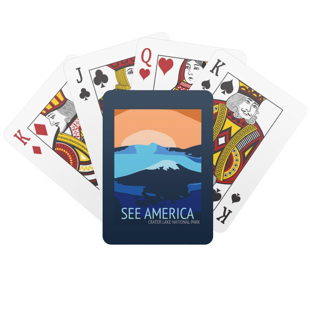 Crater Lake National Park Playing Cards