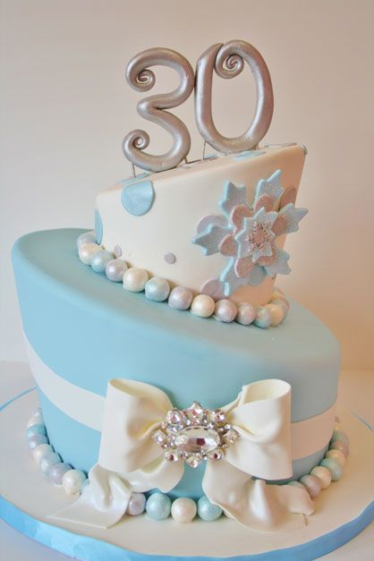 30th Birthday Cakes NJ Winter Wonderland Custom Cakes Beautiful