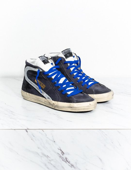 Golden Goose Navy Suede Leather ... reliable sale for nice discount authentic online affordable HzFOON