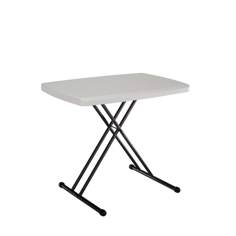 Lifetime 30 In Almond Brown Plastic Adjustable Height Folding