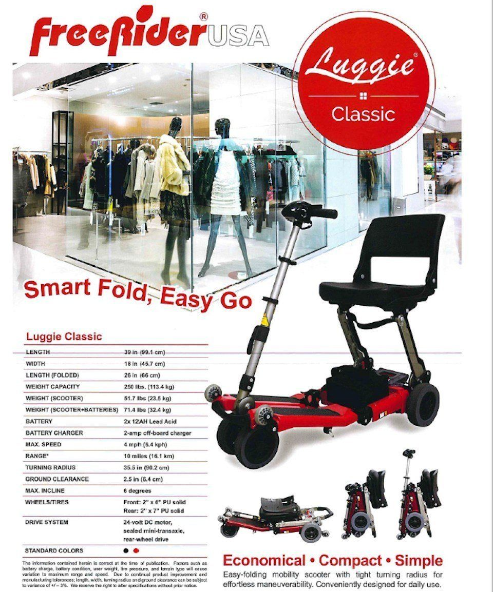 Luggie portable folding mobility scooter mobility