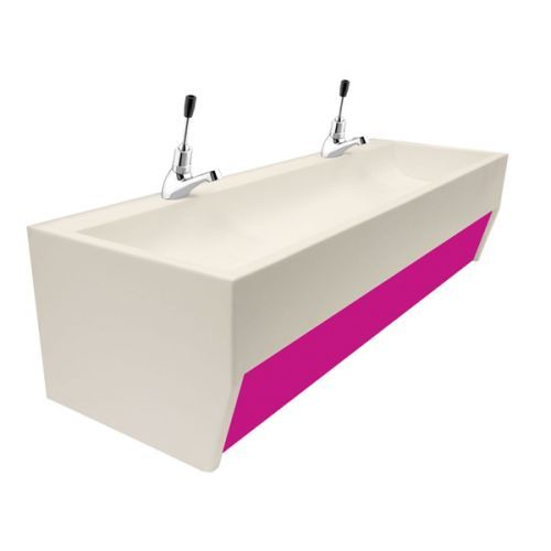 Wall Mounted Nursery And Pre School Solid Surface Wash Troughs