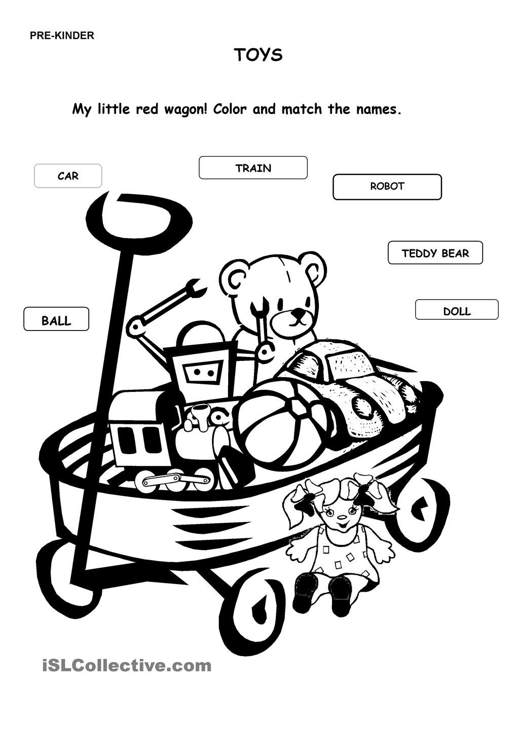 Match The Words To The Pictures Kids Math Worksheets Preschool Activities Worksheets For Kids [ 1440 x 1018 Pixel ]