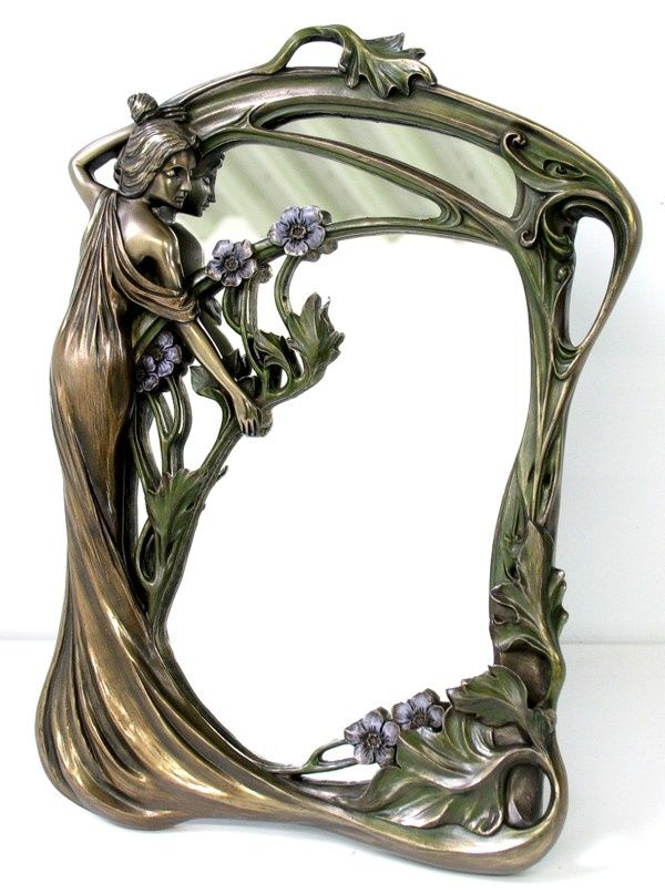 standspiegel wandspiegel jugendstil frauenfigur bronze jugendstil pinterest standspiegel. Black Bedroom Furniture Sets. Home Design Ideas