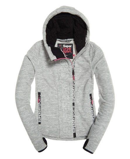 Superdry Sport Swerve Fleece Pullover mit Reißverschluss