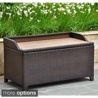 Found It At Wayfair Barcelona Wicker Resin Aluminum Outdoor Storage Trunk Bench