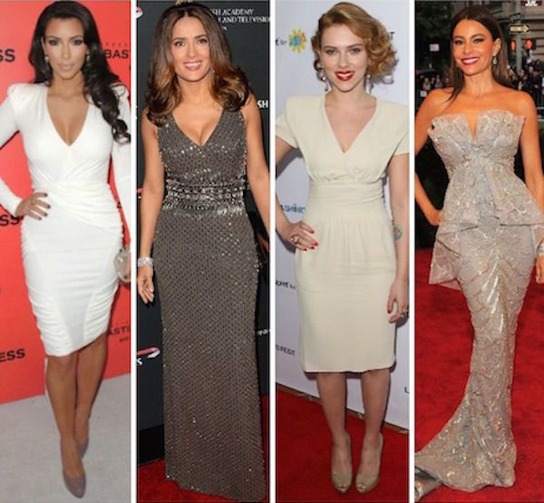 Image result for hourglass body type celebrities