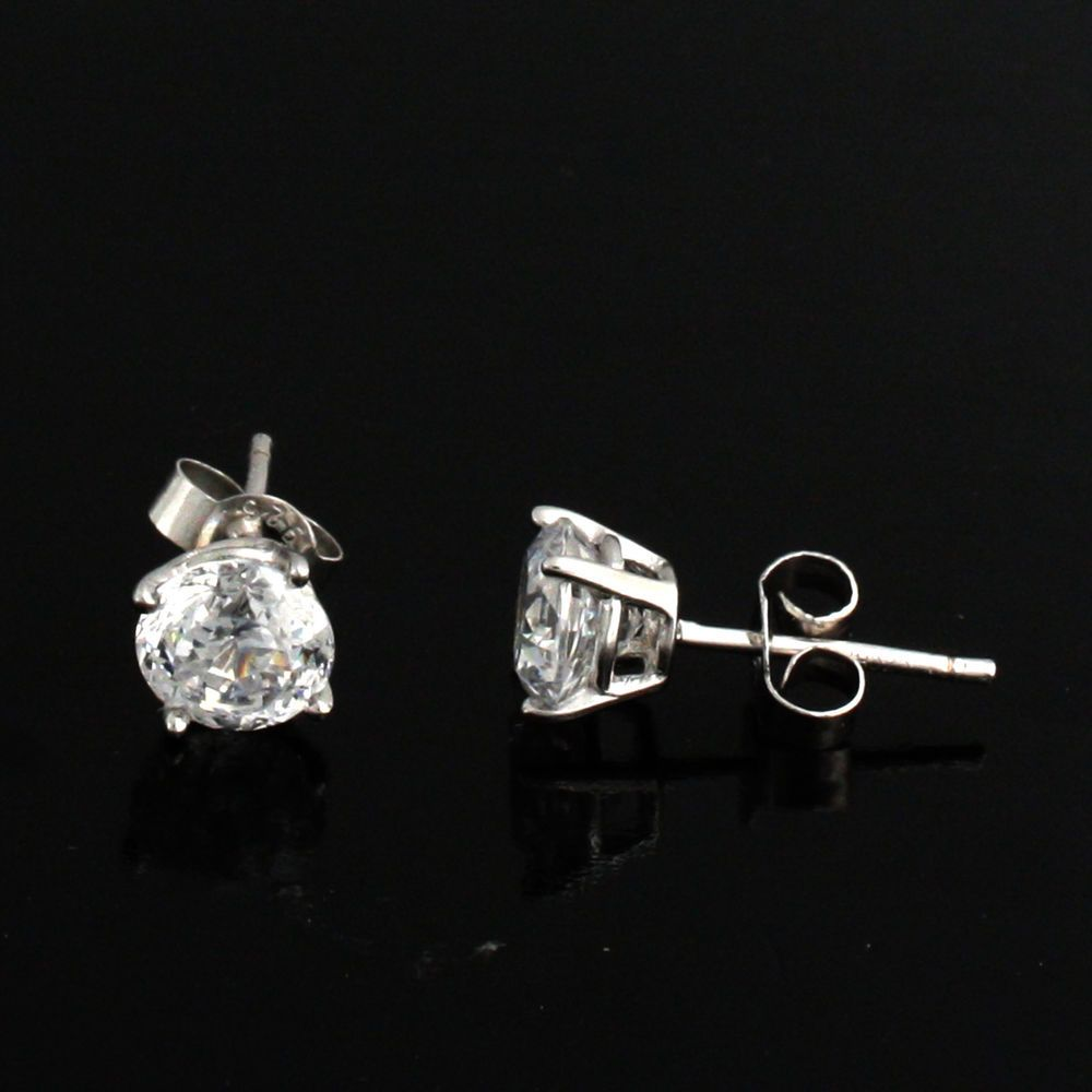 dd396522d qvc VVS Diamond Diamonique Platinum 100 Facet 2.00 ct tw Stud Earrings X083  #Gemdepot #Stud