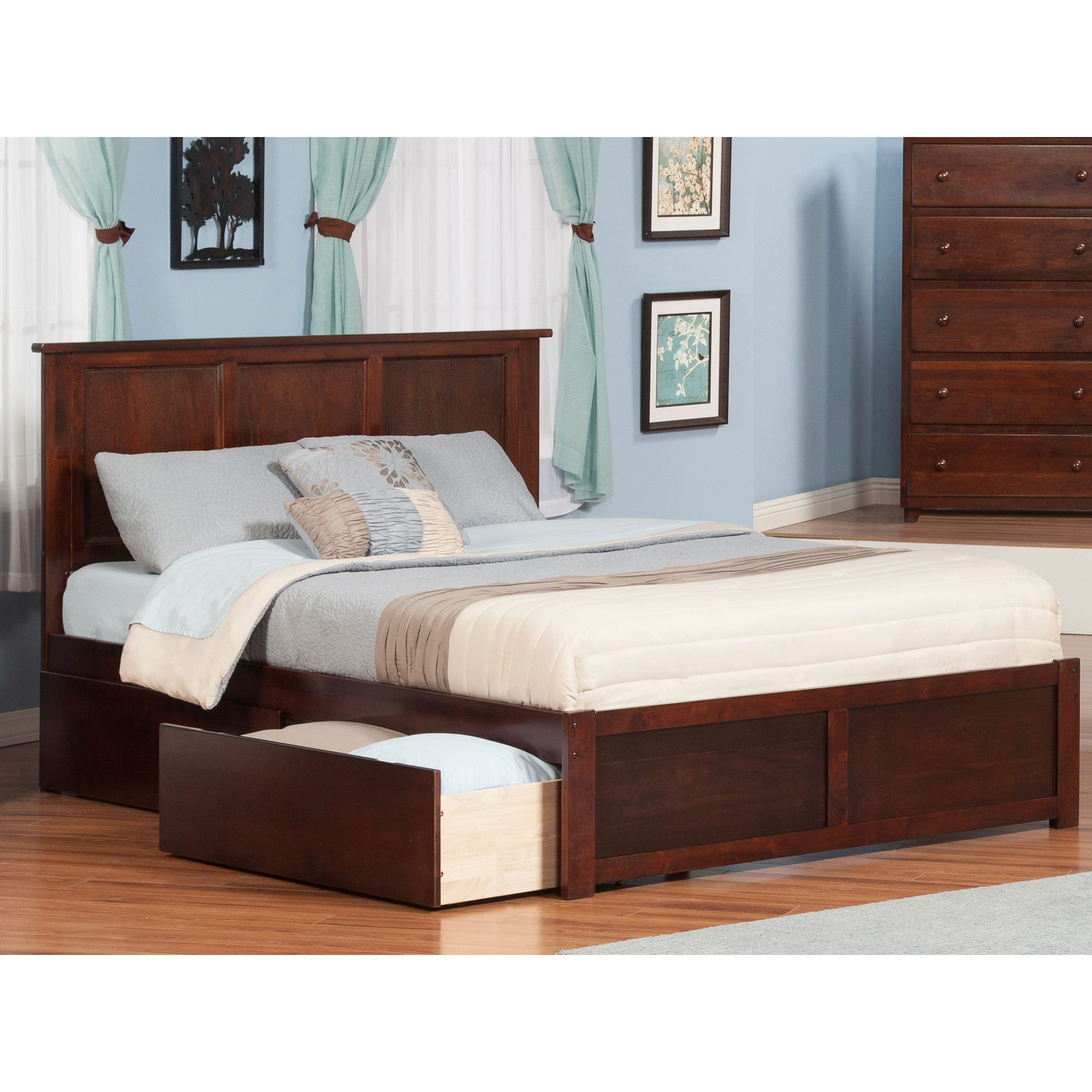 Atlantic furniture madison king storage panel bed cool house decor