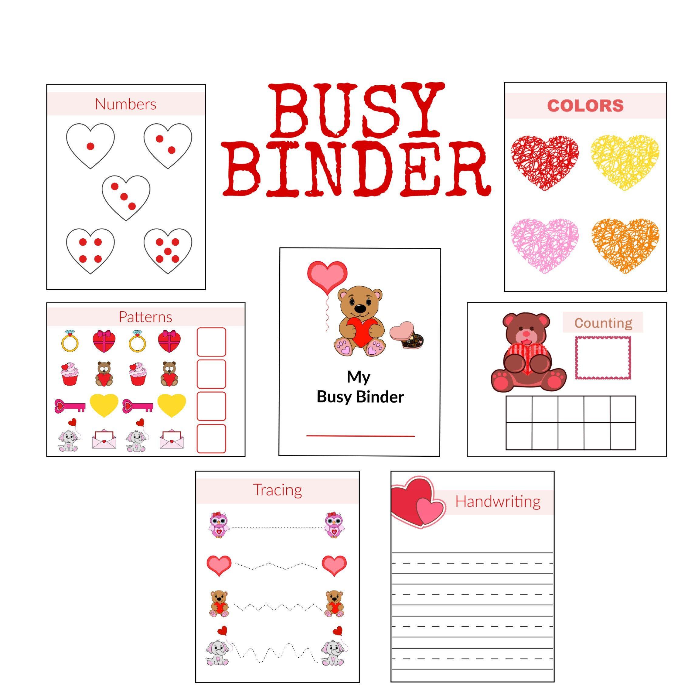 Hearts Activities File Folder Games Printable Worksheets