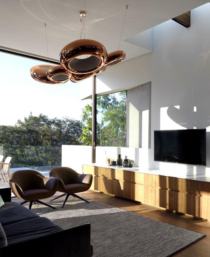 livingroom lighting. #livingroom #lighting | Sustainable Housing Project Located In Sidney - InteriorZine Livingroom Lighting