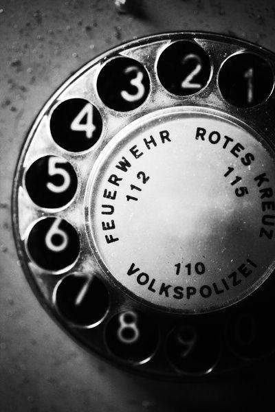 Telephone dial gdr repinned by for Produktdesign dresden