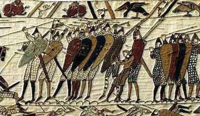 1066 AD The Battle of Hastings. Seen at Battle Castle where the Battle actually took place!