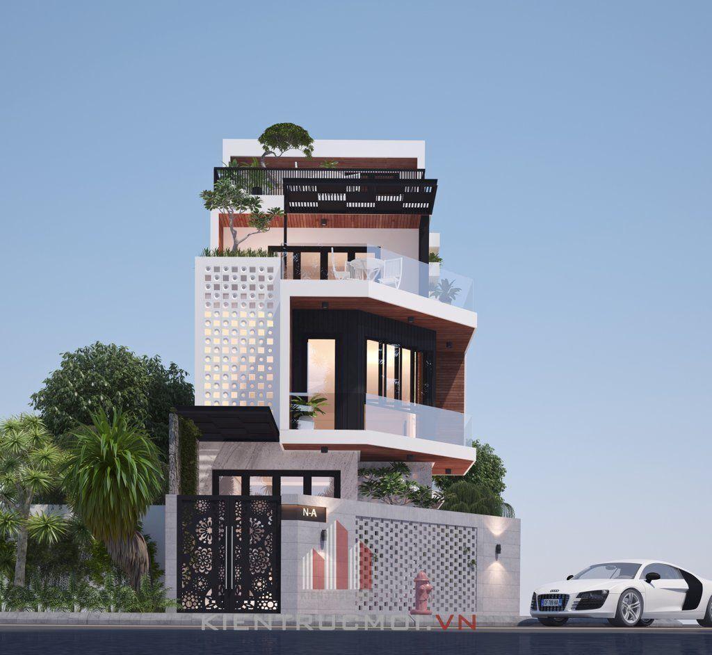 thiet-ke-nha-pho-75m2-1-tret-2-lau-tre-trung-ca-tinh   Modern Houses ...