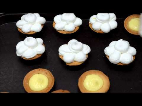 Lemon tart with Meringue topping - Lemon custard filling Tart