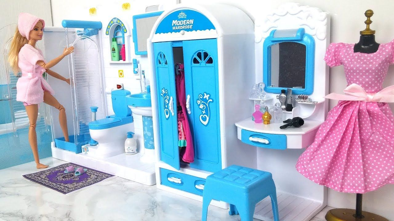 Barbie Bathroom Bedroom Morning Routine