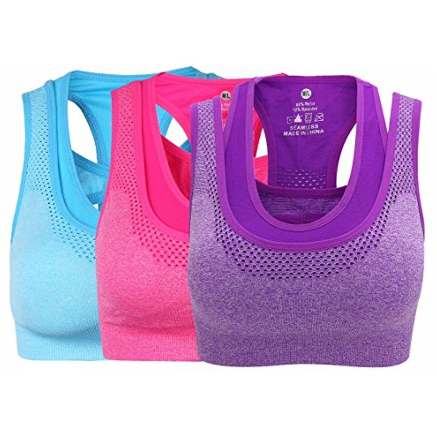 309d4601e TINSINO Women s Sports Bra Fitness Racerback Workout Yoga Bras   You can  find more details by visiting the image link. (This is an affiliate link)   Clothing