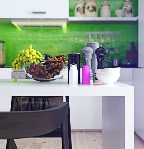 Colorful and funky interiors visualized