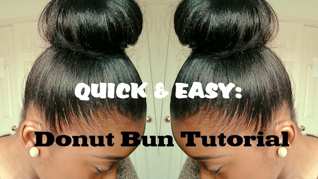 Hair Tutorial High Bun For Relaxed Hair Quick And Easy High Bun Hairstyles Black Women Hairstyles Relaxed Hair