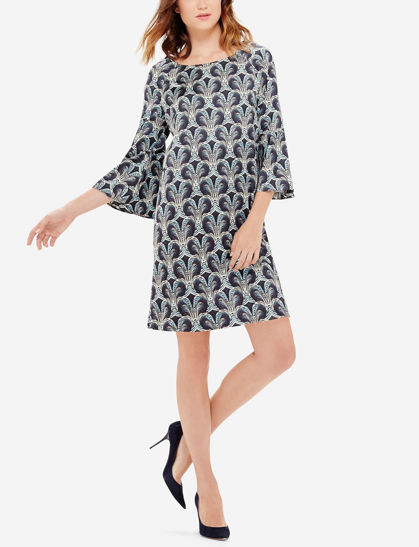 Printed Shift Dress Printed Bell Sleeve Top Printed Shift Dress Shift Dress Dresses [ 2740 x 2100 Pixel ]