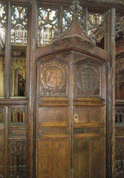 Doors to Bishop Langton's Chapel within Winchester Cathedral - geograph.org.uk