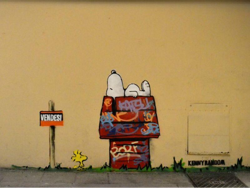 A street art do grafiteiro italiano faz referência a clássicos e usa abstrações para mostrar as mazelas da sociedade.