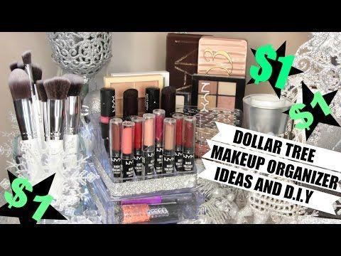 11 Dollar Store Makeup Organization Hacks That Are Borderline Genius Makeup Organization Diy Dollar Tree Makeup Diy Makeup Storage