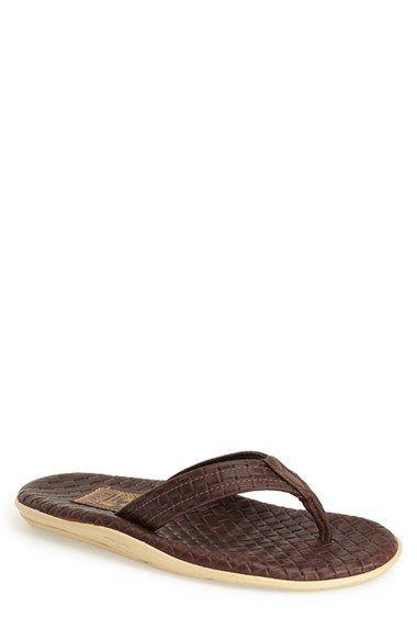 Mens Sandals Island Slipper Mens Sassari Woven Leather Thong Sandals 10 Black Sandals black Website