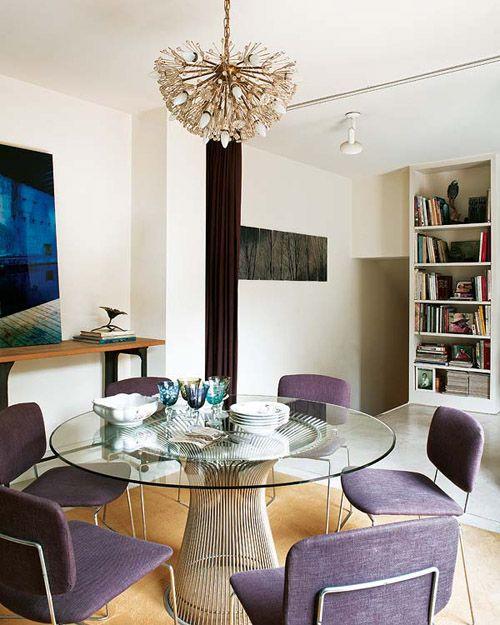 María Lladó Madrid apt contemporary eclectic dining room Platner