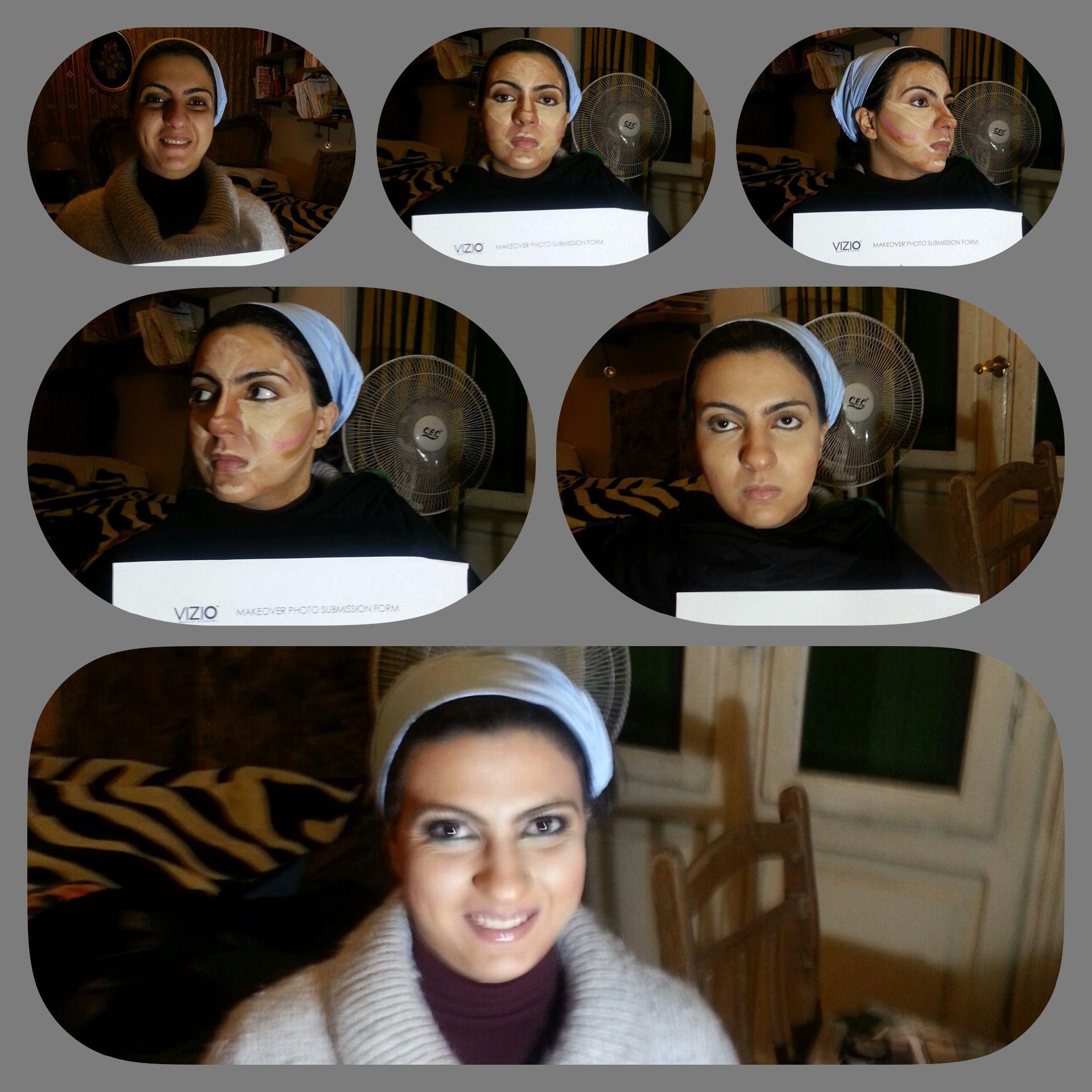 Shereen Highlight and Contour makeup assignment Contour