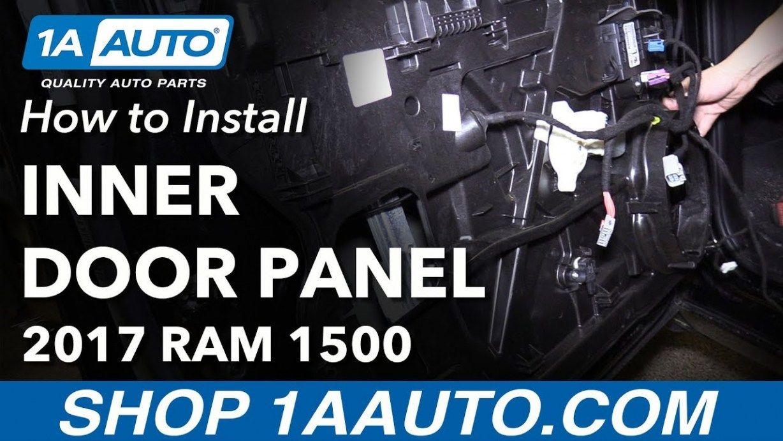 How To Remove Front Inner Door Panel 12 12 Ram 12 2019 Dodge Ram Door Panel Removal Ram 1500 2017 Ram 1500 Panel Doors