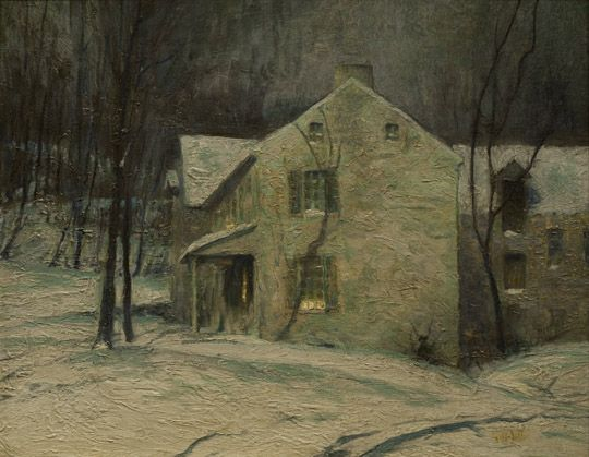 George Sotter (1879-1953), Winter Twilight, n.d., oil on canvas, H. 16 x W. 20 inches. Private Collection.
