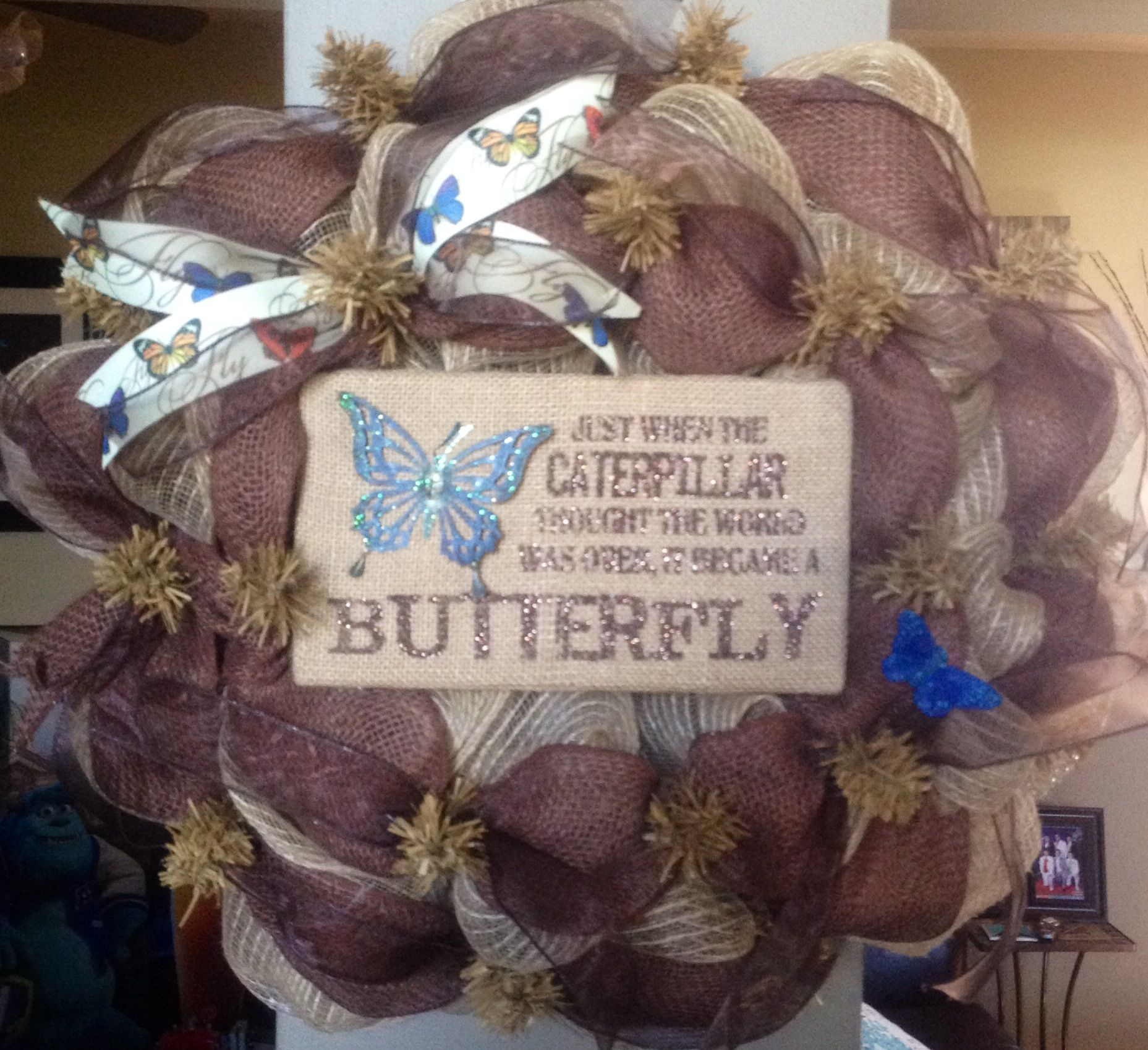 Butterfly Chocolate Brown Wreath