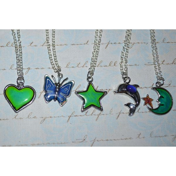 Mood Necklace Dolphin Star Heart Moon Or Butterfly 7