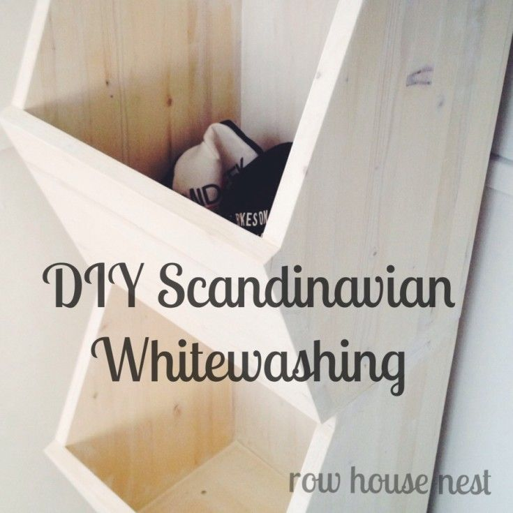 White Wash Pickling Stain On Pine: DIY Scandinavian Whitewashed Wood