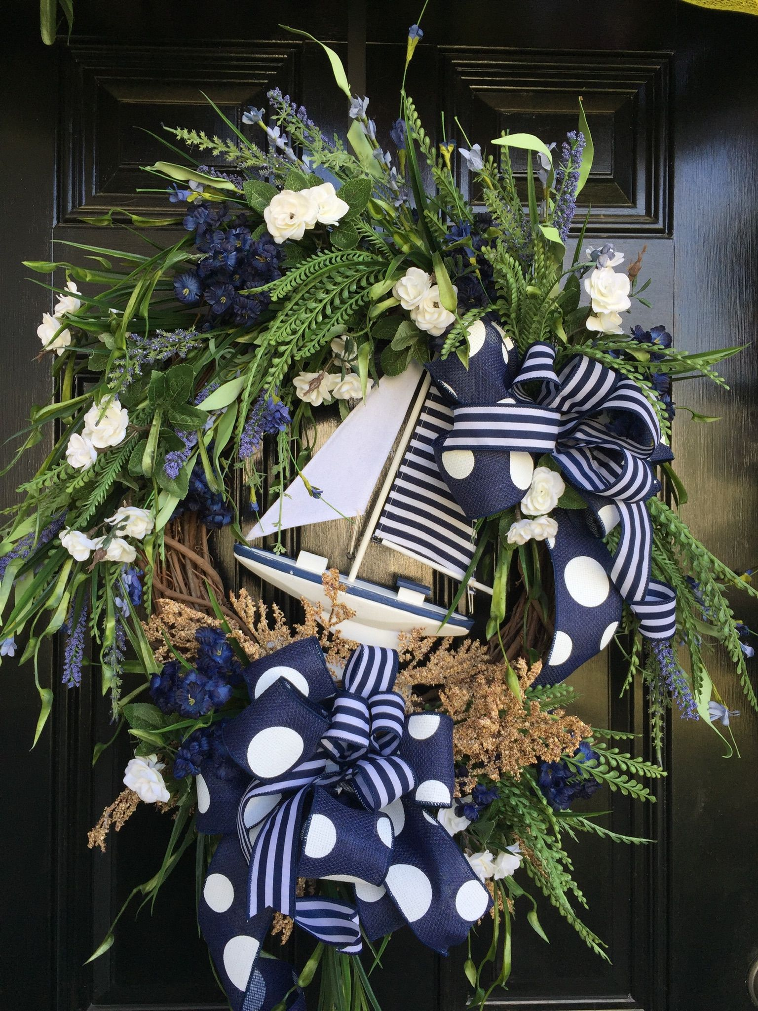 Nautical Sailboat Wreath That S Great For Summer Decor
