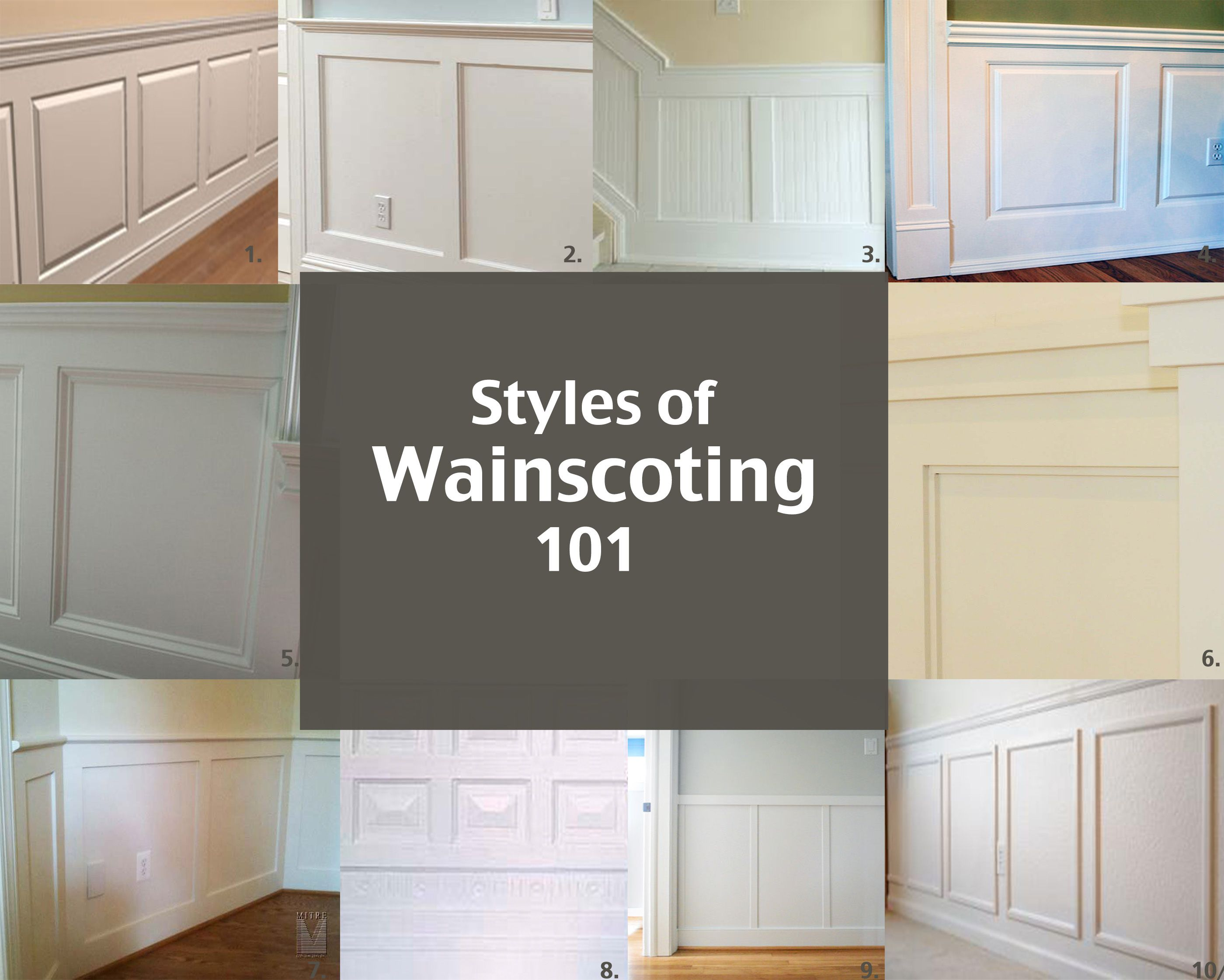 styles of wainscoting | wainscoting, raising and third