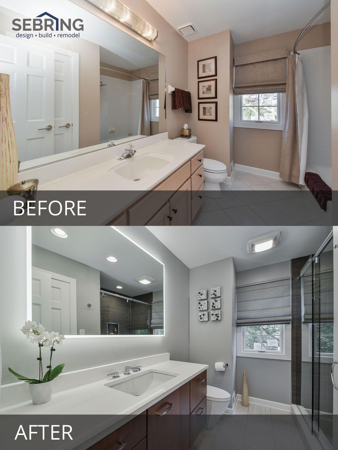 Doug  Brendas Master Bathroom Before  After Pictures in