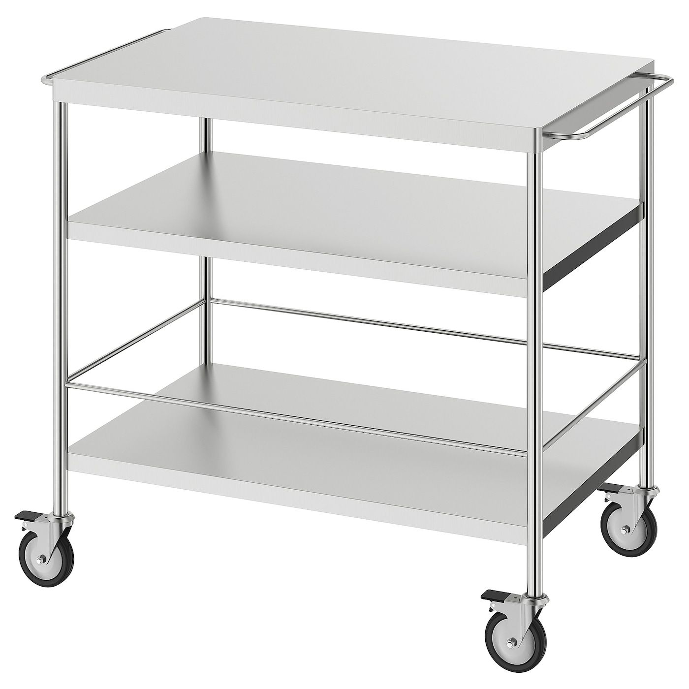 Flytta Kitchen Cart Stainless Steel 38 5 8x22 1 2 With Images