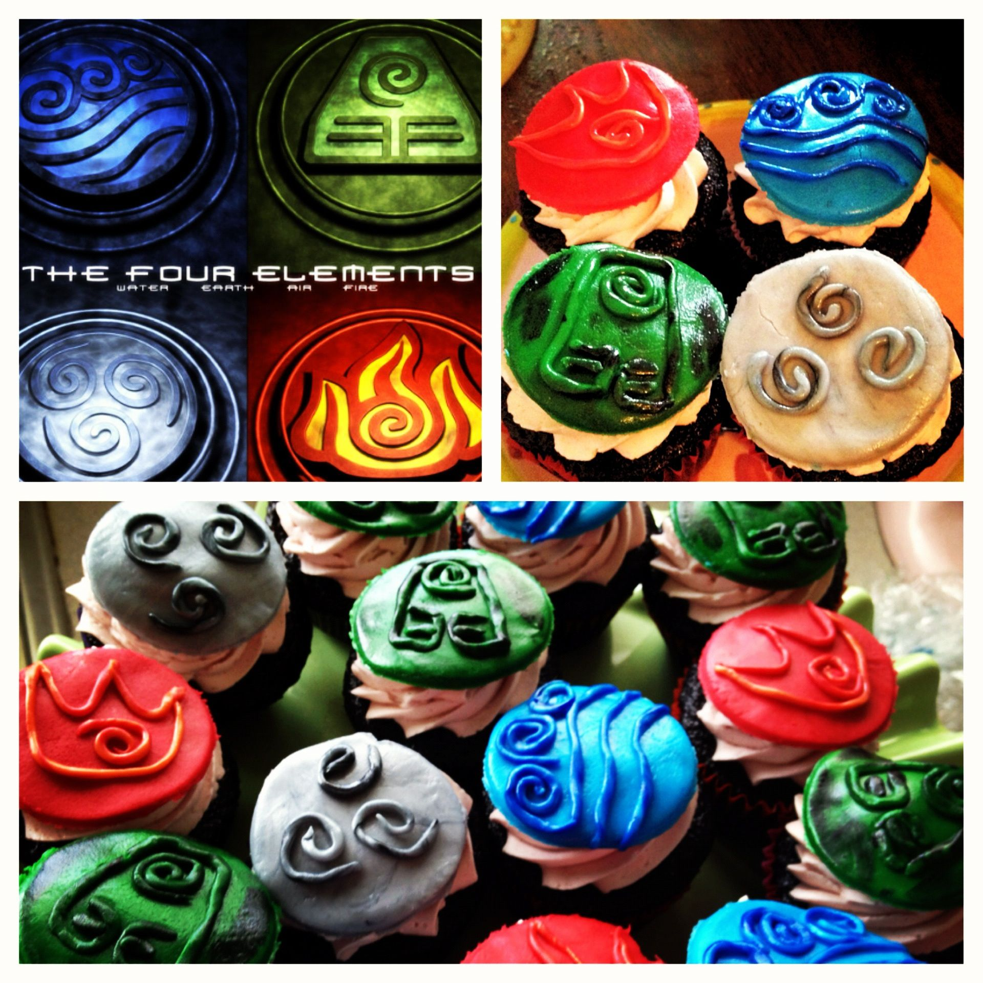 Avatar- The Last Airbender Cupcakes I Made! Top Left Was